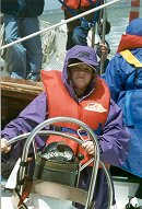Student at helm
