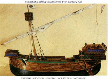 14th Century Sailing Ship Model